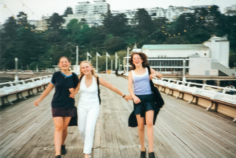 Nat, Hol, Laura on the pier-2